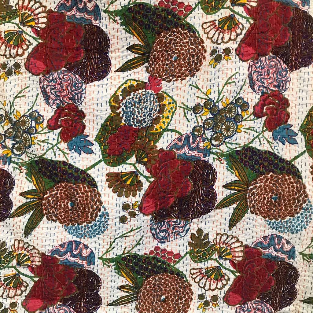 Kantha multi 51016 - Windham Fabrics half yard fabric - multi-color flower floral pattern