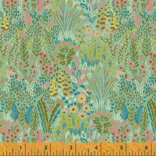 Sally Kelly Solstice - 51929-3 - Windham Fabrics half yard fabric - floral flowers