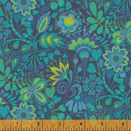 Sally Kelly Solstice - 51930-2 - Windham Fabrics half yard fabric - floral flowers