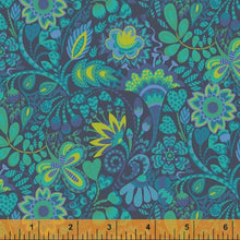 Load image into Gallery viewer, Sally Kelly Solstice - 51930-2 - Windham Fabrics half yard fabric - floral flowers
