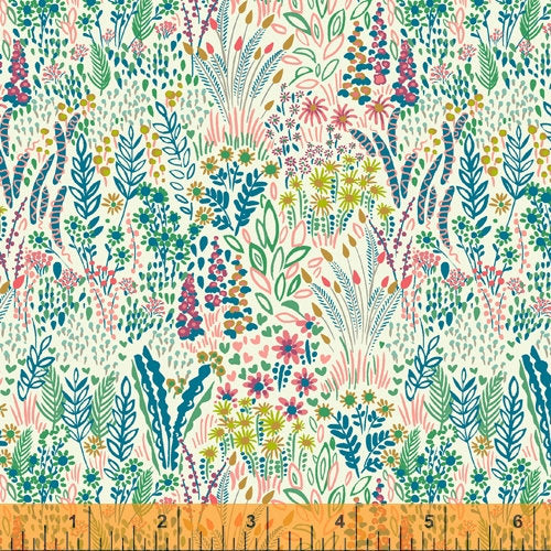 Sally Kelly Solstice - Cotton LAWN - 51929L-4 - Windham Fabrics half yard fabric - floral flowers