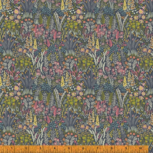 Sally Kelly Solstice - Cotton LAWN - 51929L-X - Windham Fabrics half yard fabric - floral flowers