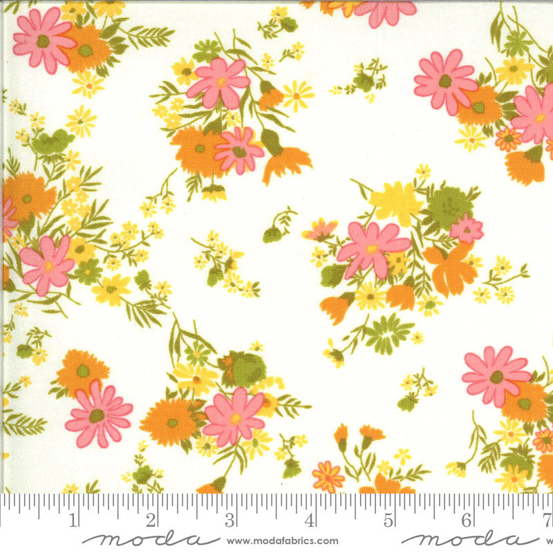 PRE-ORDER (ships in OCTOBER) A Blooming Bunch - Cloud 40042 11 - Maureen McCormick - Moda Fabrics half yard fabric - flowers floral