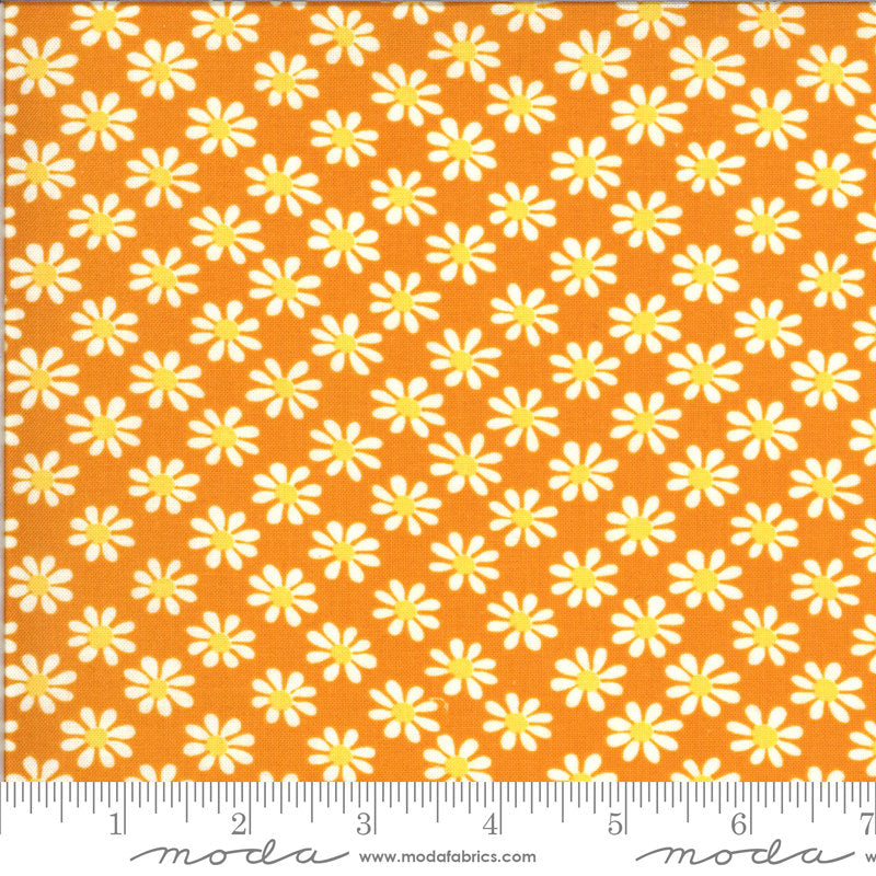 PRE-ORDER (ships in OCTOBER) A Blooming Bunch - Cheddar 40043 13 - Maureen McCormick - Moda Fabrics half yard fabric - flowers floral