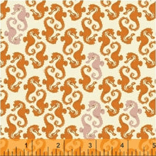 Load image into Gallery viewer, Heather Ross 20th Anniversary - 40941A-15 - Windham Fabrics half yard fabric - sea horses