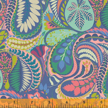 Load image into Gallery viewer, Sally Kelly Solstice - 51928-1 - Windham Fabrics half yard fabric - floral flowers feathers