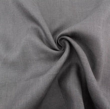 "Load image into Gallery viewer, Charcoal organic linen - Birch Fabrics half yard linen - 56"" width"
