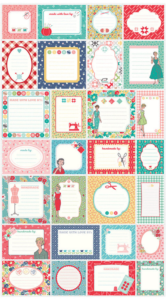 My Happy Place Label Panel P9316 - Riley Blake Designs quilting fabric - multi color