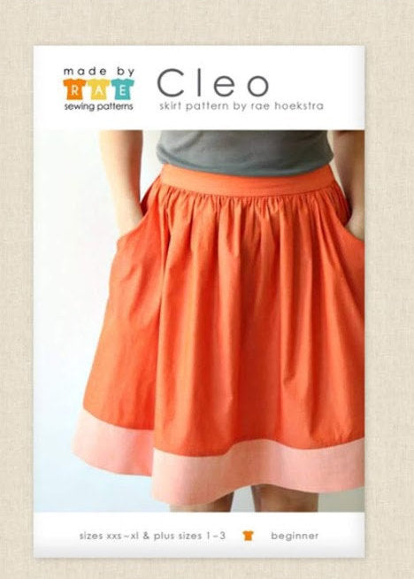 Sewing Pattern Cleo Skirt by Made by Rae, Paper Pattern, Sewing Pattern, Made by Rae Sewing Pattern