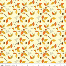 Load image into Gallery viewer, Give Thanks - Leaves cream - Sandy Gervais - Riley Blake Designs half yard fabric - holiday