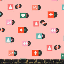 Load image into Gallery viewer, Flurry - Tunes peach fi - Ruby Star Society - Moda Fabrics half yard quilting fabric - holiday