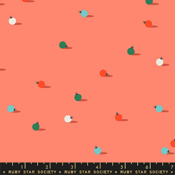 Flurry - Spill tangerine dream - Ruby Star Society - Moda Fabrics half yard quilting fabric - holiday