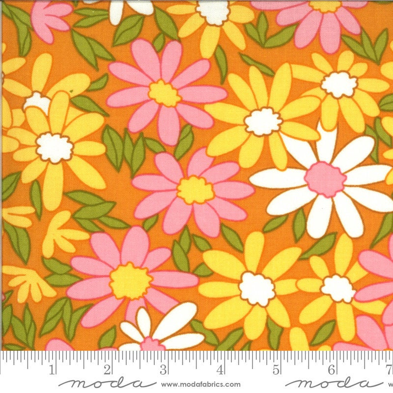 PRE-ORDER (ships in OCTOBER) A Blooming Bunch - Cheddar 40040 13 - Maureen McCormick - Moda Fabrics half yard fabric - flowers floral