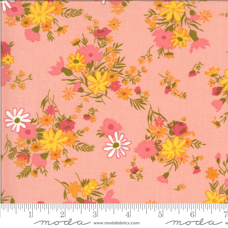 PRE-ORDER (ships in OCTOBER) A Blooming Bunch - Bubblegum 40042 14 - Maureen McCormick - Moda Fabrics half yard fabric - flowers floral