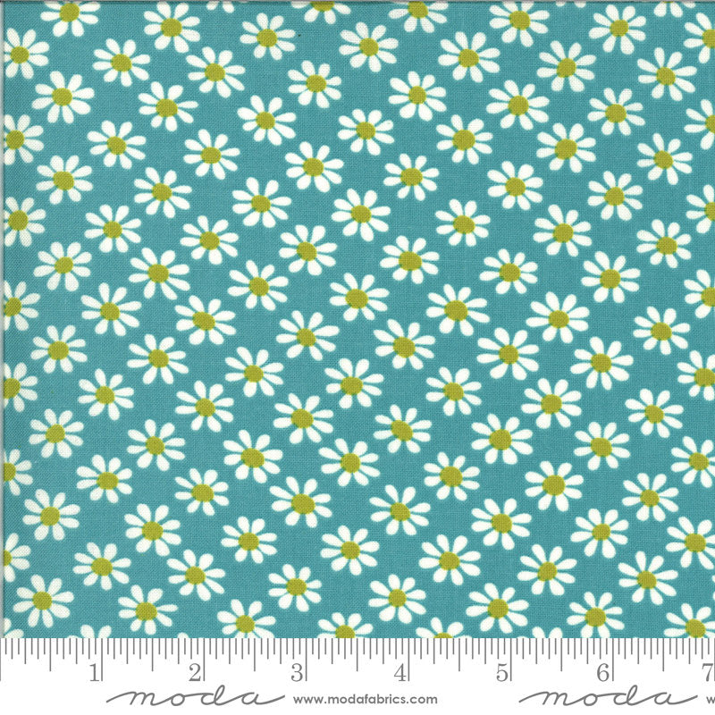 PRE-ORDER (ships in OCTOBER) A Blooming Bunch - Surf 40043 20 - Maureen McCormick - Moda Fabrics half yard fabric - flowers floral