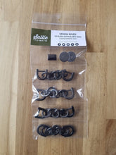 Load image into Gallery viewer, Moon River Hardware Kit in Gunmetal by Sallie Tomato, Sallie Tomato, bag making hardware, purse making supplies
