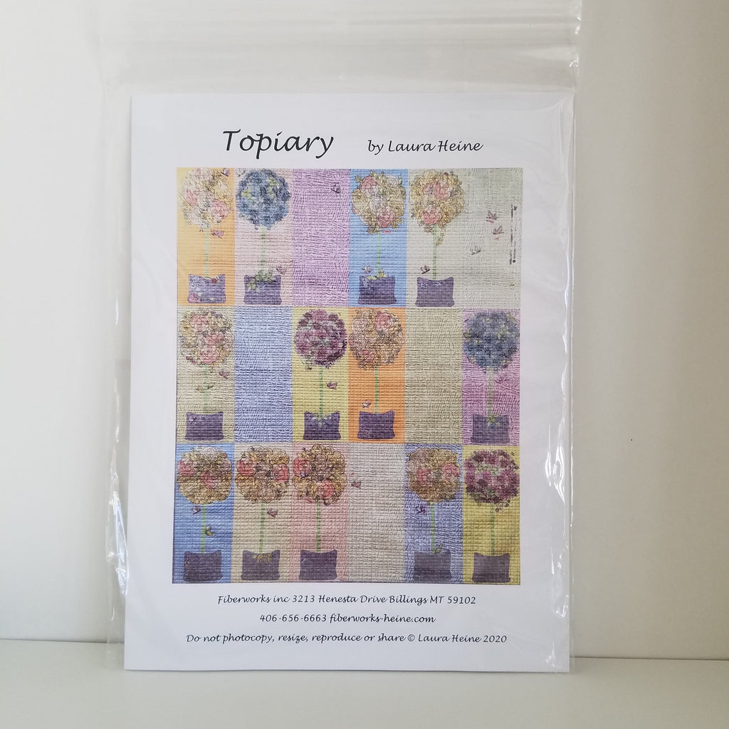 Topiary by Laura Heine - Quilt Pattern  - Collage Quilt