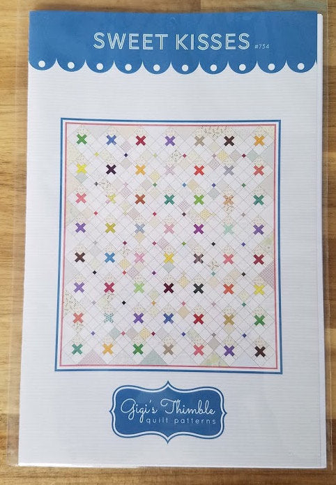 Quilt Pattern Sweet Kisses by GiGi's Thimble Quilt Patterns, Paper Pattern, Sewing Pattern, Patchwork Quilt Pattern