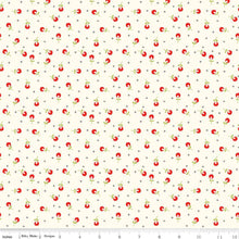 Load image into Gallery viewer, Merry Little Christmas - Berries cream - Sandy Gervais - Riley Blake Designs half yard fabric - holiday