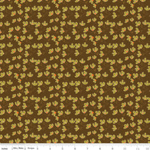 Load image into Gallery viewer, Give Thanks - Blossoms brown - Sandy Gervais - Riley Blake Designs half yard fabric - holiday