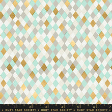 Load image into Gallery viewer, Flurry - Gift Wrap mint - Ruby Star Society - Moda Fabrics half yard quilting fabric - holiday