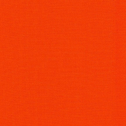 KONA Cotton Solid - Flame- #323 - Robert Kaufman Fabric - 1 yd continuous cut