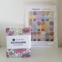 Load image into Gallery viewer, Topiary by Laura Heine - Quilt Pattern plus Potpourri Fat Quarter Bundle - Collage Quilt