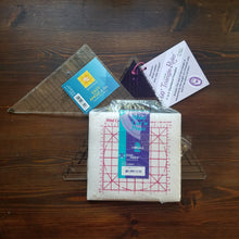 Load image into Gallery viewer, Triange Ruler Bundle with Mini Cut 'n Press - Quilting Notions - Quilting Ruler - Triangle Ruler