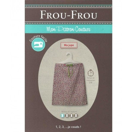 Frou-Frou Skirt Pattern - Paper Pattern - Sewing Pattern - Frou-Frou Pattern - French Style - French Sewing Pattern