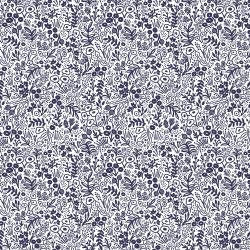 Rifle Paper Co. Basics - Tapestry Lace - Navy Fabric - Cotton + Steel fabric - Rifle Paper Co. Quilting Cotton