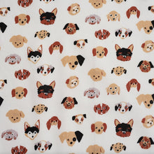 Load image into Gallery viewer, Doggie Dots Cream Poplin - Dog Park -  Jenny Ronen - Birch Fabrics - 180 thread count GOTS certified organic quilting cotton - Dog
