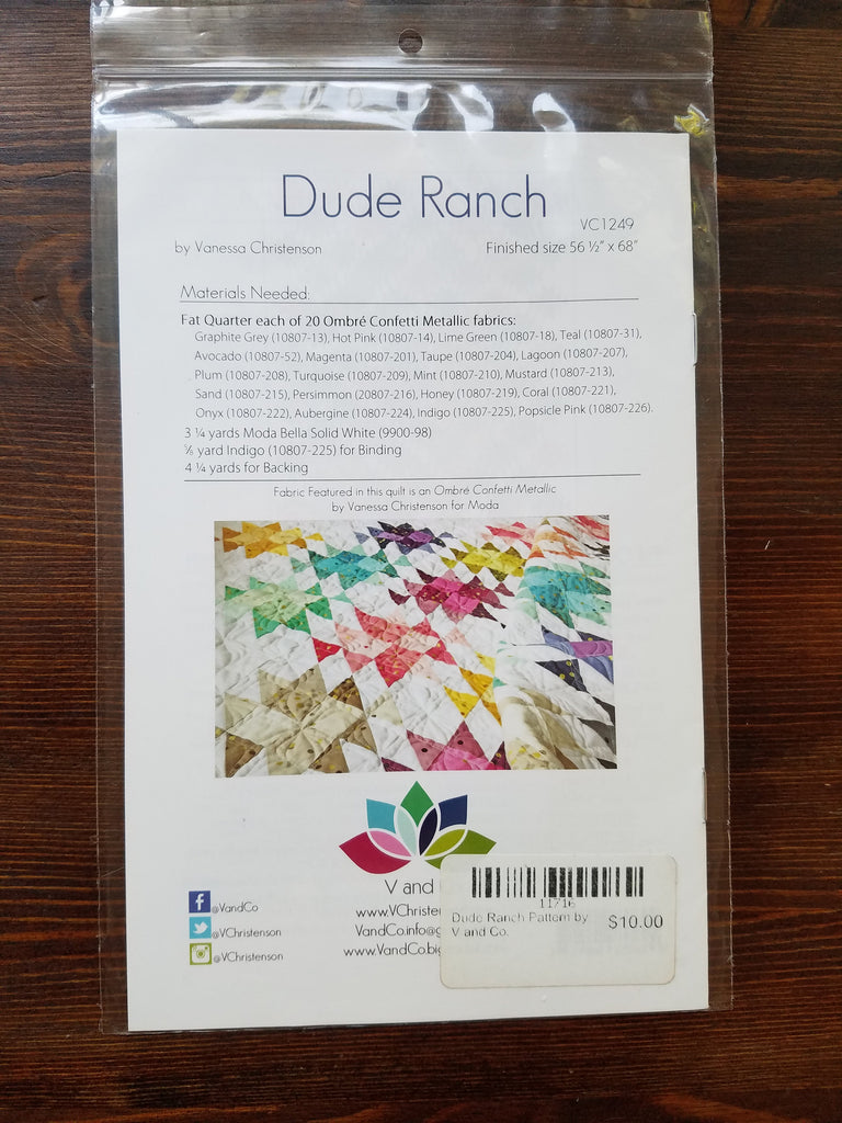 V and Co. Pattern Trio set A - All Star - Dude Ranch - Ombre Weave - Quilt Pattern - Modern Quilt - Ombre Metallic patterns