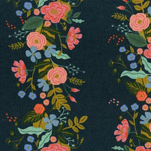 Load image into Gallery viewer, Rifle Paper Co English Garden - Floral Vines - Navy Canvas Fabric - Rifle Paper Co. - Cotton + Steel Fabric