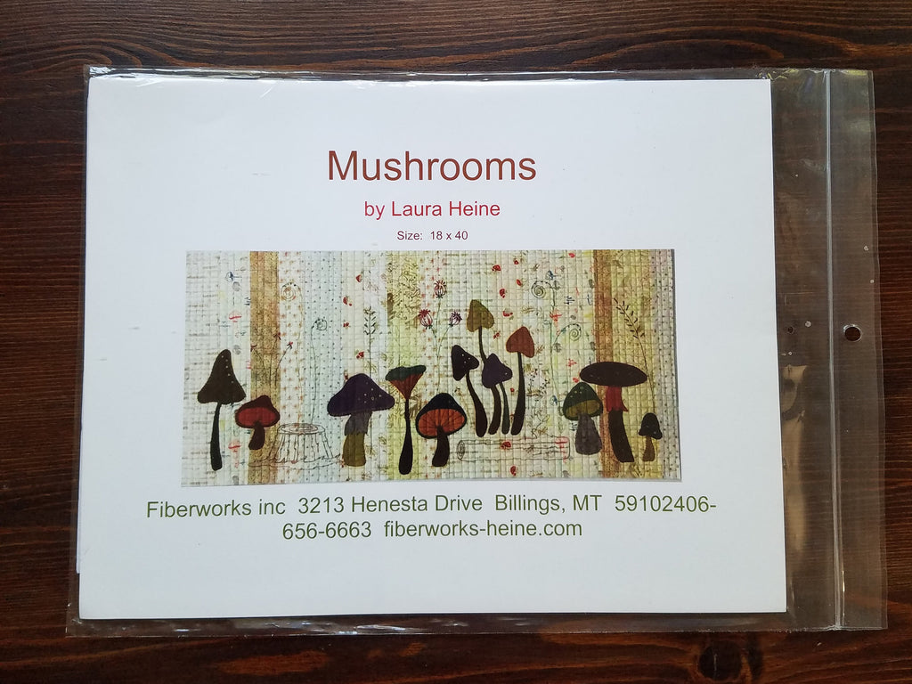 Mushrooms by Laura Heine - Laura Heine - Quilt Pattern - Collage Quilt