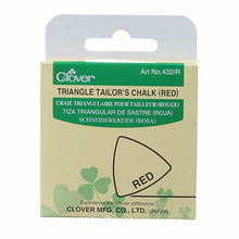 Load image into Gallery viewer, Tailor's Chalk - Triangle Tailor's Chalk - Clover Needlecraft - Choose Blue, White, Yellow or Red/Pink - fabric marking chalk