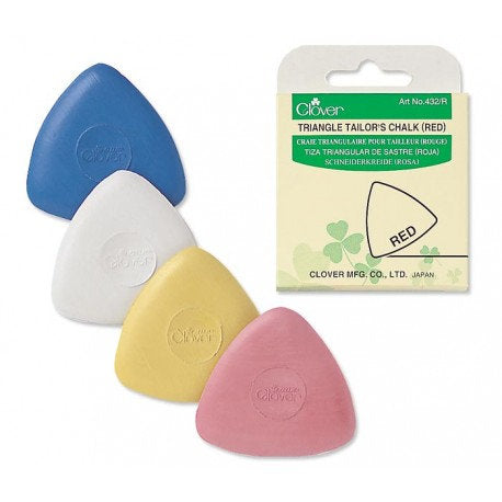 Tailor's Chalk - Triangle Tailor's Chalk - Clover Needlecraft - Choose Blue, White, Yellow or Red/Pink - fabric marking chalk