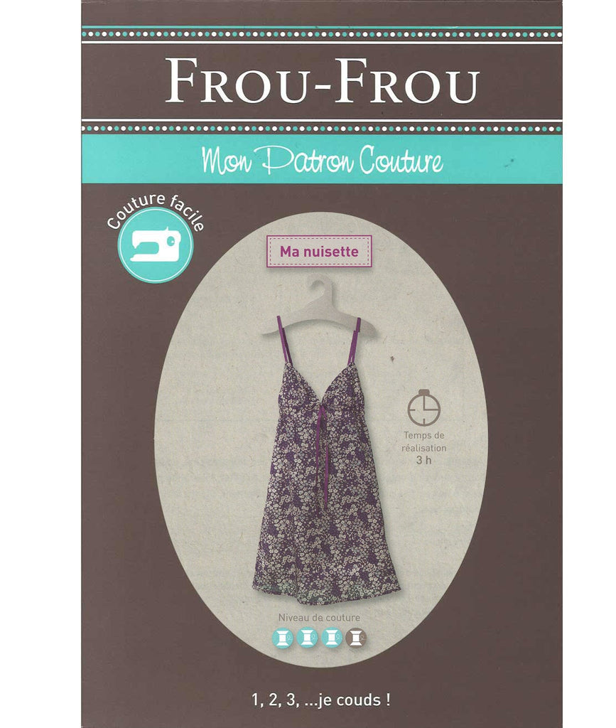 Frou-Frou Slipdress Pattern - Paper Pattern - Sewing Pattern - Frou-Frou Pattern - French Style - French Sewing Pattern