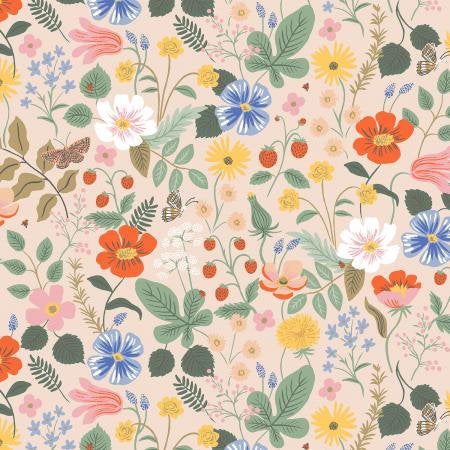 PRE-ORDER - Rifle Paper Co Strawberry Fields - Blush Fabric - Rifle Paper Co. - Rifle Paper Co. Quilting Cotton