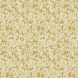 Rifle Paper Co. Basics - Tapestry Lace - Gold Metallic Fabric - Cotton + Steel fabric - Rifle Paper Co. Quilting Cotton