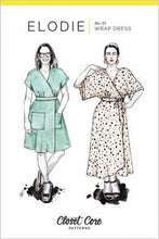 Load image into Gallery viewer, Elodie Wrap Dress Pattern by Closet Core Patterns - Paper Pattern -  Sewing Pattern - Closet Core Pattern - Wrap Dress
