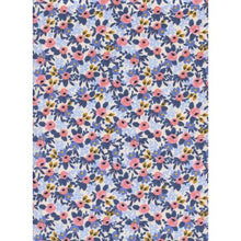 Load image into Gallery viewer, Rifle Paper Co Les Fleurs - Rosa - Periwinkle Fabric - Rifle Paper Co. - Cotton + Steel Fabric