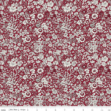 Load image into Gallery viewer, Winter Flower Show Emily Silhouette Flower E - Riley Blake Designs half yard fabric - Liberty of London pink green