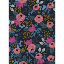 Load image into Gallery viewer, Rifle Paper Co Menagerie - Rosa - Navy Canvas Fabric - Rifle Paper Co. - Cotton + Steel Fabric