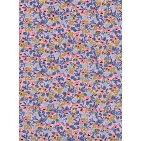 Rifle Paper Co Menagerie - Rosa - Violet Metallic Fabric - Rifle Paper Co. - Cotton + Steel Fabric