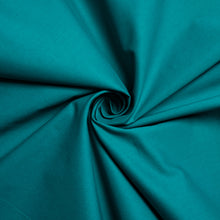Load image into Gallery viewer, Organic Solid Poplin - Teal - Birch Fabrics -  GOTS certified organic quilting cotton