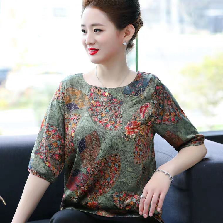 【Buy 1 free 1】New Ethnic Style Ice Silk T-shirt