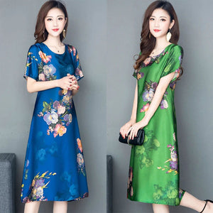 【Buy 1 free 1】Handmade mulberry silk dress