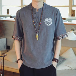 【Buy 1 free 1】Cotton Linen Breathable T-shirt