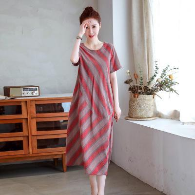 【Buy 1 free 1】2020 new loose fashion striped dress