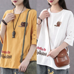【Buy 1 free 1】2020 Trendy Cotton Loose Oversized T-shirt